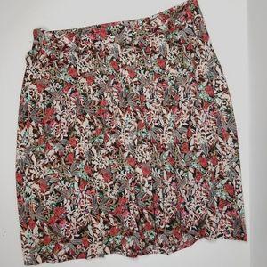 CJ Banks NEW Floral Botanical Skirt Pleats 22W